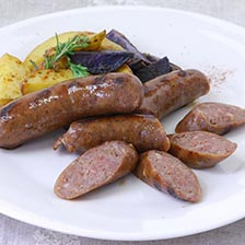 Smoked Bison Sausage with Red Wine