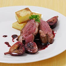 Pan Seared Duck Breasts With Figs Poached in Wine Recipe