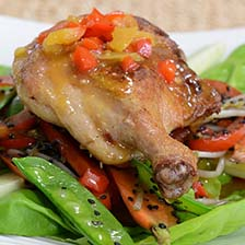 Asian Duck Legs With Vegetable Saute Recipe