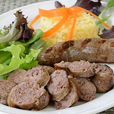 Duck Sausage With Orange Liquor