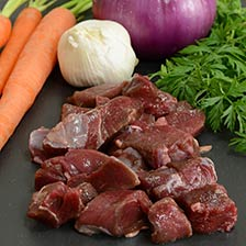 Elk Stew Meat, Diced