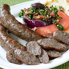 Lamb Sausage with Oregano, Garlic, White Wine