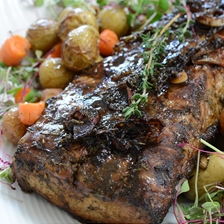 Pork Loin In Balsamic and Red Wine Recipe | Steaks and Game