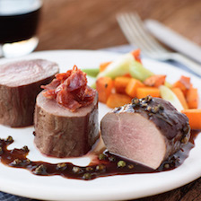 Seared Venison Tenderloin in Peppercorn Sauce Recipe