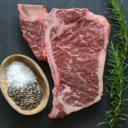 Wagyu T-Bone Steaks, MS3, 16 oz ea